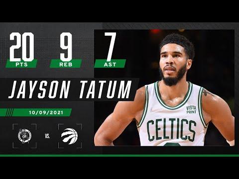 Jayson Tatum drops 20-9-7 in Celtics' win vs. Raptors