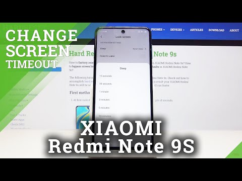 How to Change Screen Timeout in XIAOMI Redmi Note 9s – Display Settings