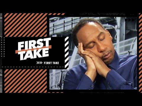 Stephen A. falls asleep during Max's thoughts on the Hawks vs. Bucks series | First Take