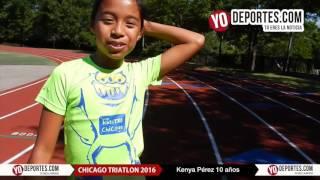 Kenya Perez la niña triatleta de Chicago