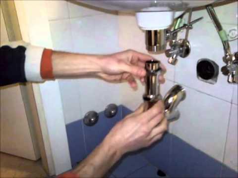 Come installare dei tubi scarico per i lavelli del bagno