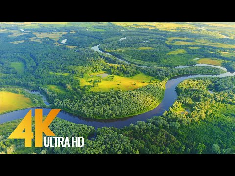Desna River 4K UHD - Scenic Rivers of Ukraine from Above + Music - Short Preview Video
