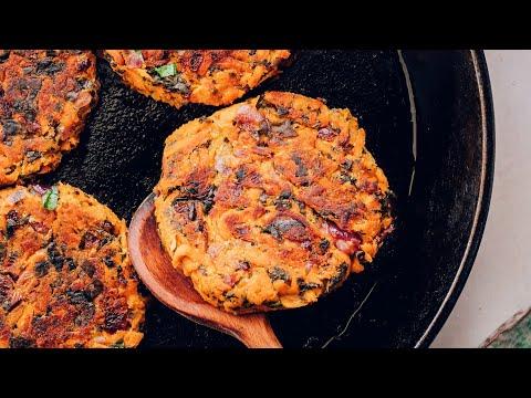 Kale & Sweet Potato Fritters   Minimalist Baker Recipes