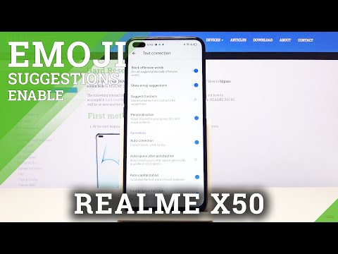 How to Activate Emoji Suggestions in REALME X50 5G – Keyboard Settings