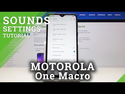 How to Turn On Dial Pad Sounds in MOTOROLA One Macro – Sounds Settings