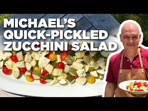 Michael Symon's Quick-Pickled Zucchini Salad | Symon Dinner's Cooking Out | Food Network