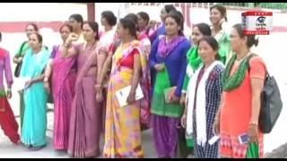 पिथौरागढ़ः आशा फैसिलेटरों ने मांगों को लेकर दिया धरना, दी चेतावनी