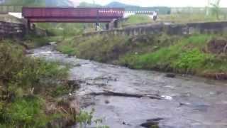 Помойка на реке Харлахта г. Байкальск