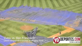 Maratónico partido de 5 entradas y ganan los Cubs a San Francisco