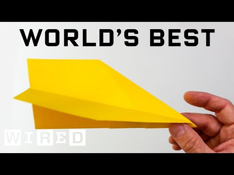 How to Make the World's Best Paper Airplane   WIRED