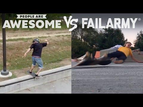 Wins Vs. Fails   People Are Awesome Vs. FailArmy