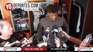Jimmy Butler Bulls 100 vs  Atlanta Hawks 102