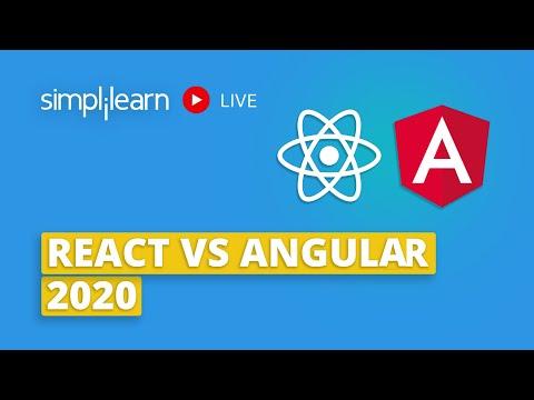 React vs Angular 2020 | Difference Between React & Angular | Angular & React Comparison |Simplilearn