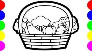 25+ Best Looking For Vegetables Basket Drawing Easy Inter Venus