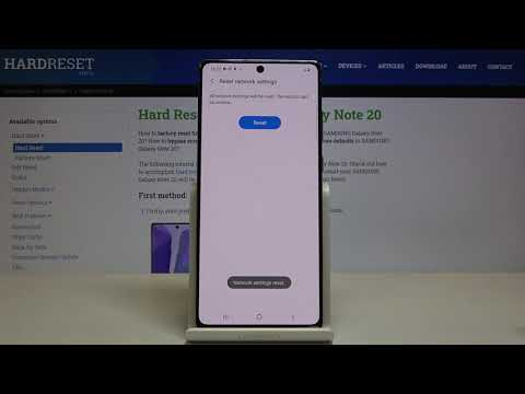 How to Reset Network Settings in SAMSUNG Galaxy Note 20 – Reset Network Preferences