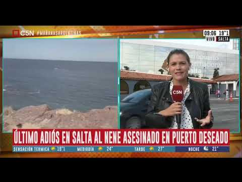 Salta último adiós al nene asesinado en Puerto Deseado