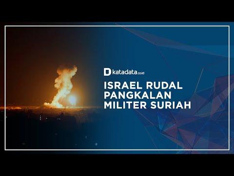 Rekaman Pesawat Tempur Israel Rudal Pangkalan Militer Suriah I Katadata Indonesia