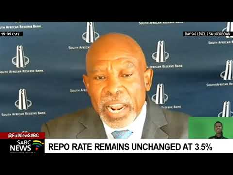 South African Reserve Bank keeps the repo rate unchanged at 3.5%