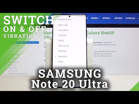 How to Change Vibration Pattern in SAMSUNG Galaxy Note 20 Ultra – Vibration Customization