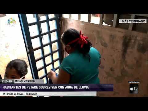 Miranda - Habitantes de Petare recogen agua de lluvia para abastecerse - VPItv