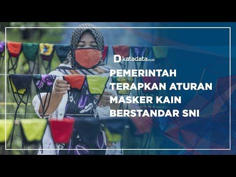 Pemerintah Terapkan Aturan Masker Kain Berstandar SNI | Katadata Indonesia