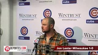 Jon Lester Chicago Cubs first win
