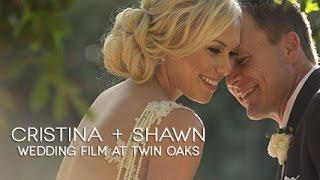 Shawn and Cristina - Twin Oaks Garden Wedding House