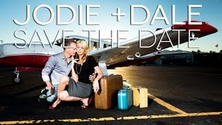 Jodi + Dale - Runway Engagement Save the Date