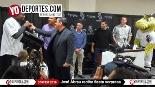 Fiesta sorpresa para Jose Abreu en SoxFest 2016