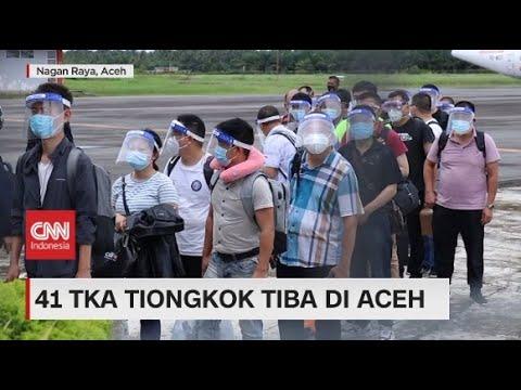 Tanpa Harus Perlihatkan Paspor & Kitas, 41 TKA Tiongkok Tiba di Aceh