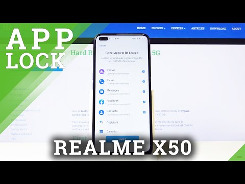 How to Set App Password in REALME X50 5G – Lock Files with Password