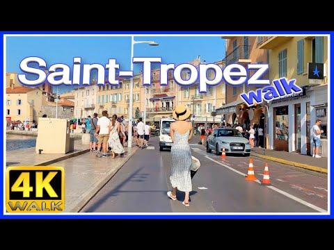 【4K】WALK Saint Tropez FRENCH RIVIERA 4k video TRAVEL vlog