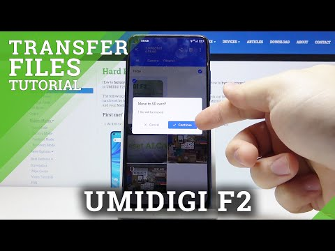 How to Move Data in UMIDIGI F2 - Transfer Files / Export & Import Data
