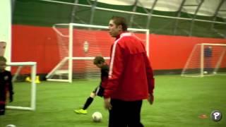 Soccer Coaching Dribbling Drill: Skills Corridor