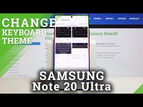 How to Change Keyboard Theme in SAMSUNG Galaxy Note 20 Ultra – Keyboard Settings