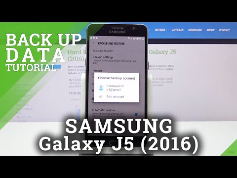 How to Perform Back Up in SAMSUNG GALAXY J5 (2016) - Back Up Data