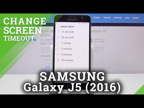 How to Set Up Sleep Time in SAMSUNG GALAXY J5 (2016) - Adjust Screen Timeout