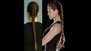 Hair Tutorial French Braid Inspired By Lara Croft YouTube