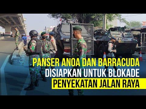 PPKM Darurat: Panser dan Barracuda Bantu Blokade Penyekatan di Kalimalang