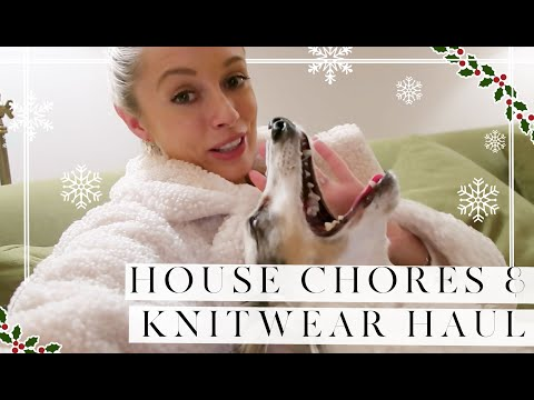 HOUSE CHORES & WINTER KNITWEAR TRY ON // Vlogmas Day 10 // Fashion Mumblr