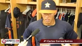 Carlos Correa batea su  primer cuadrangular en Grandes Ligas con los Astros de Houston