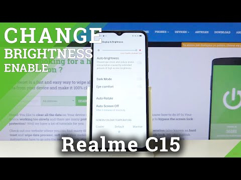 How to Set Auto Brightness in REALME C15 – Adaptive Brightness