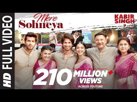 Mere Sohneya Song Lyrics-Kabir Singh(2019)