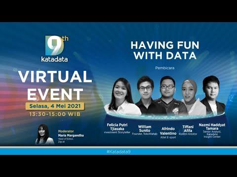 "#Katadata9 Virtual Event: ""Having Fun with Data"""
