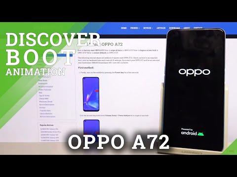 Boot Animation in OPPO A72 - Screen Animation Checkup