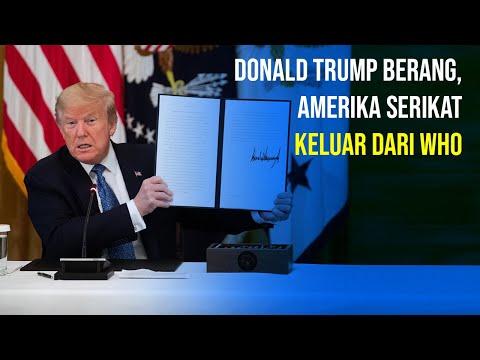 Trump Layangkan Surat Pengunduran Diri AS dari WHO