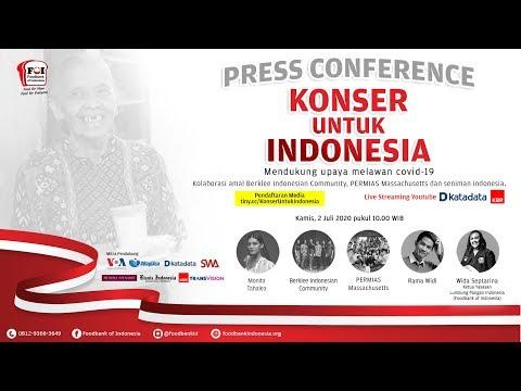 """Jumpa Pers Virtual """"KONSER UNTUK INDONESIA"""""""