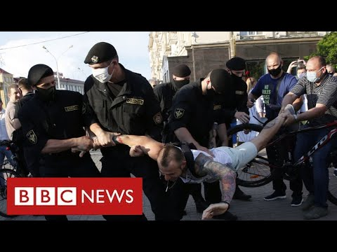 """Belarus suffering """"brutal crackdown"""" as presidential election approaches - BBC News"""