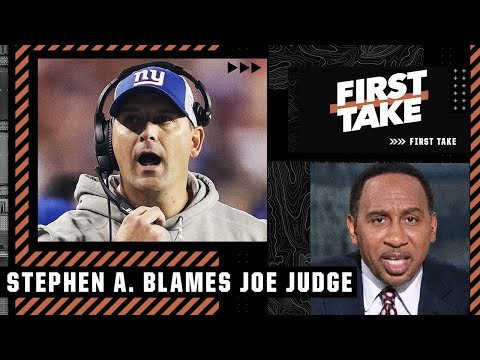 Stephen A. points the finger at Joe Judge for the Giants' loss   First Take