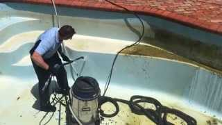 INcredible video of a pool being washed  Go Cleaning have the know how to clean anything